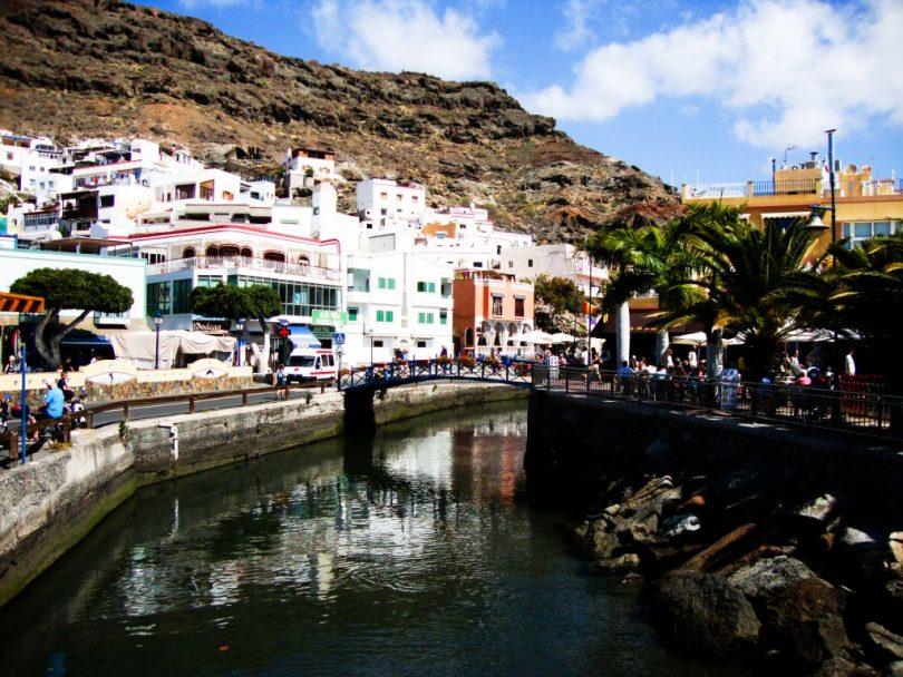 Eisenbrücke bei Puerto de Mogan